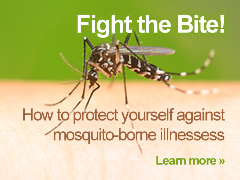 Fight the Bite! How to protect yourself against mosquito-borne illnesses.