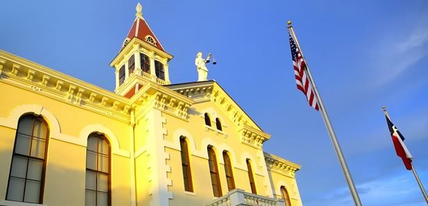 Wilson County Courthouse in downtown Floresville, Texas