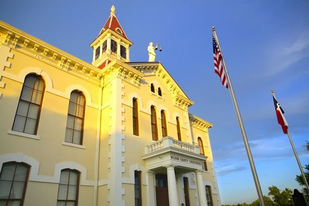 Wilson County Courthouse at sunset