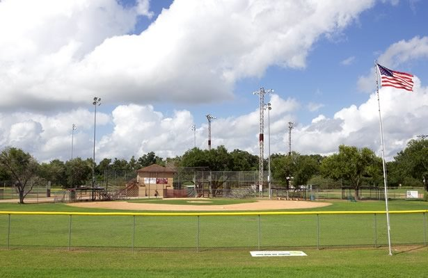 Baseball fields at Floresville River Park
