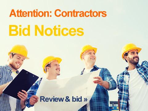 Bid Notices (Attention: Contractors)
