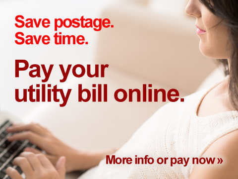 Save postage. Save time. Pay your utility bill online.