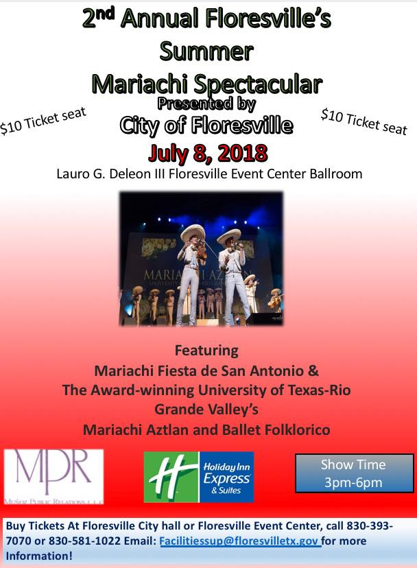 Second Annual Summer Mariachi Spectacular and Ballet Folklorico