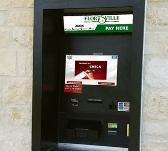 New payment kiosk at Floresville City Hall