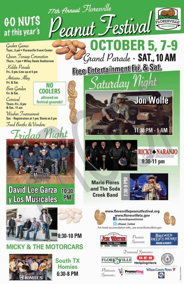 Floresville Peanut Festival, October 5, 7-9, 2021