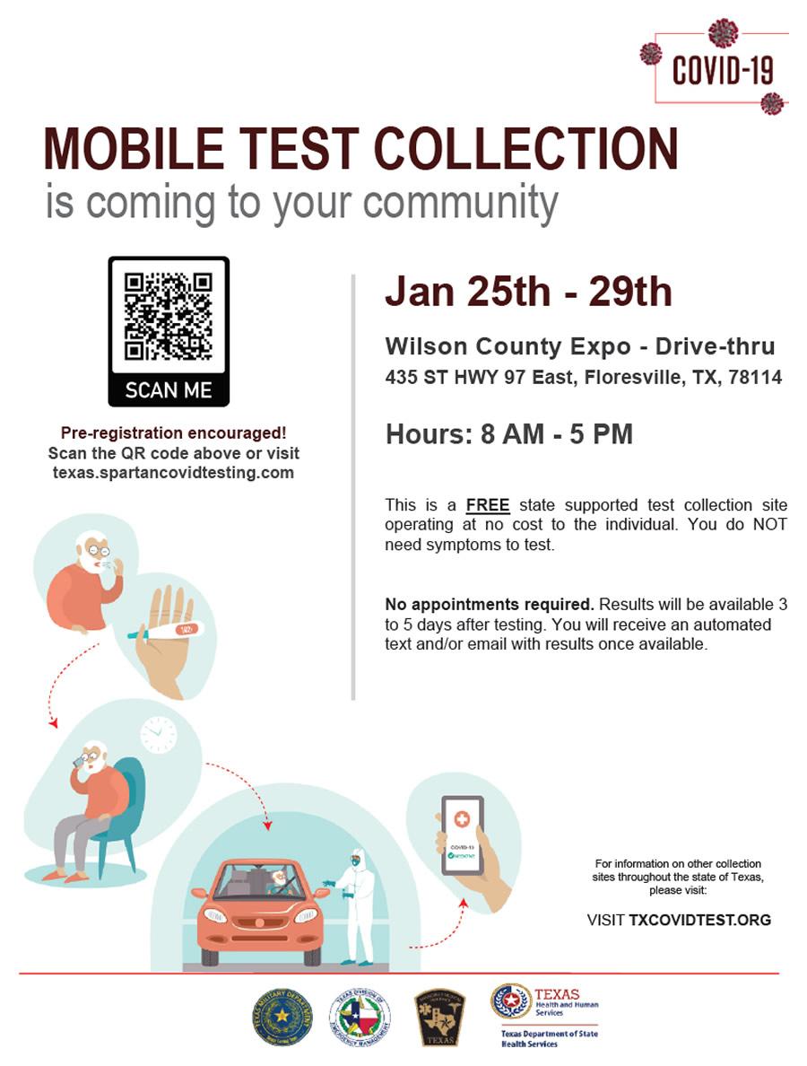COVID-19 free drive-thru testing at Wilson County Expo