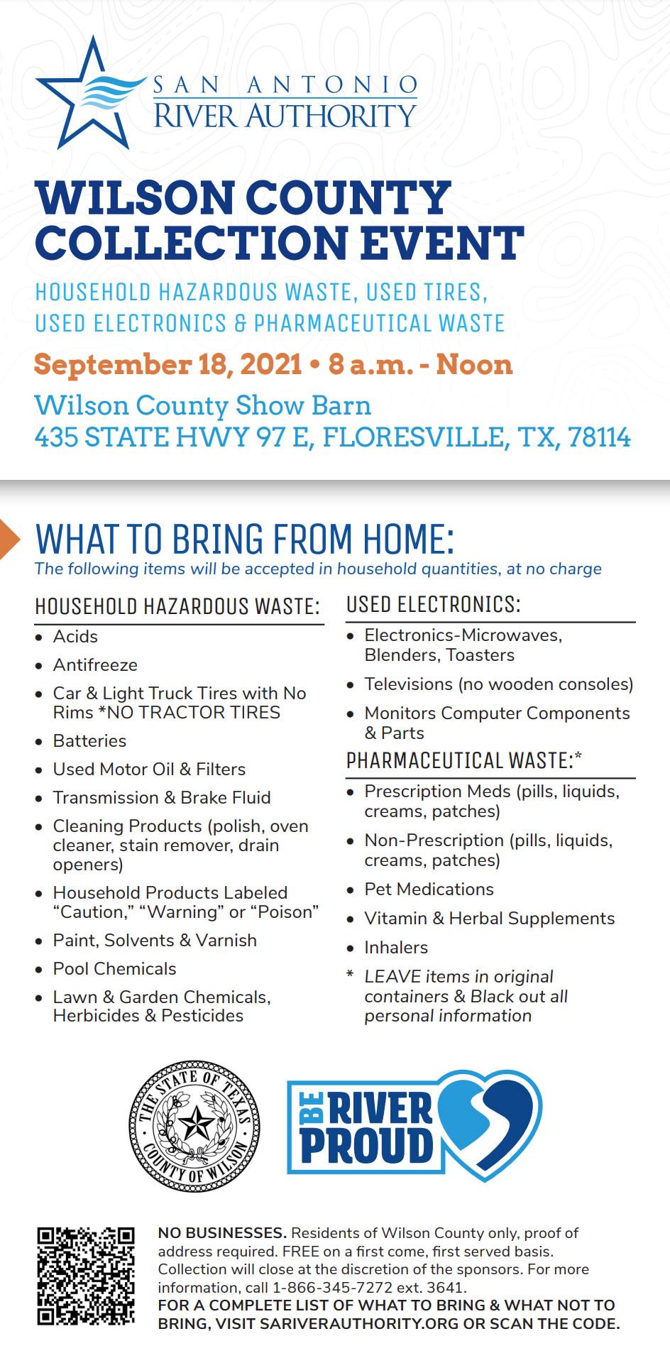 Wilson County Hazardous Waste Collection, September 18, 2021