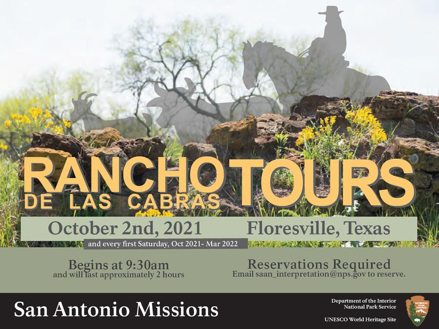 Rancho de las Cabras Tours in Floresville, Texas (San Antonio Missions and National Park Service)